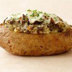 Запеченный картофель, фаршированный грибами и луком