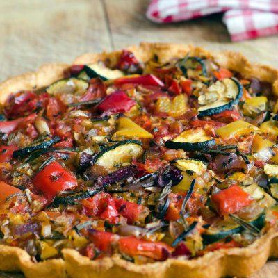 Постный вегетарианский тарт с овощами - рецепт с фото