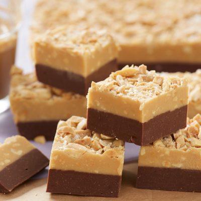 Шоколадо-арахисовая помадка с орешками (щербет в микроволновке) - рецепт с фото