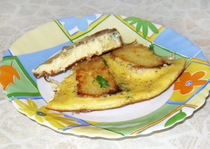 Яичница с гренками - рецепт с фото