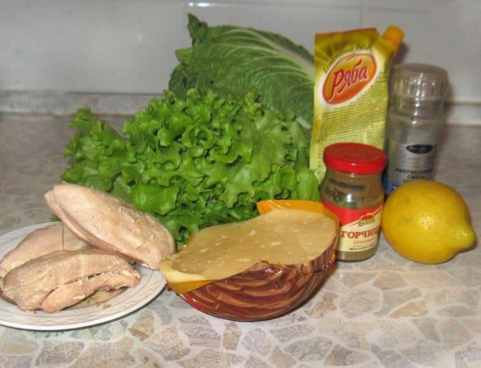Салат из китайской капусты с курицей и