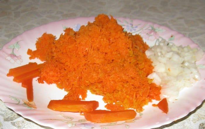 Салат из тунца консервированного и морковью