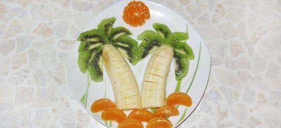 Фруктовая пальма - рецепт приготовления с фото