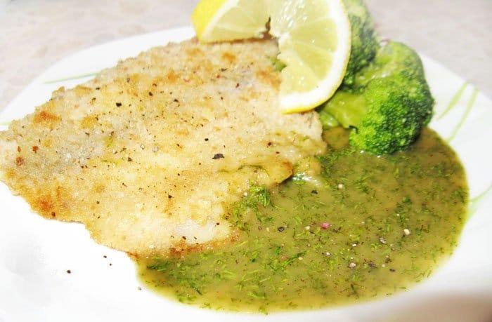 Кисло-сладкий зеленый соус для рыбы