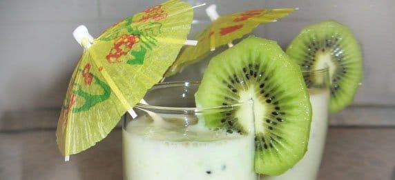 Молочный грушевый коктейль с киви