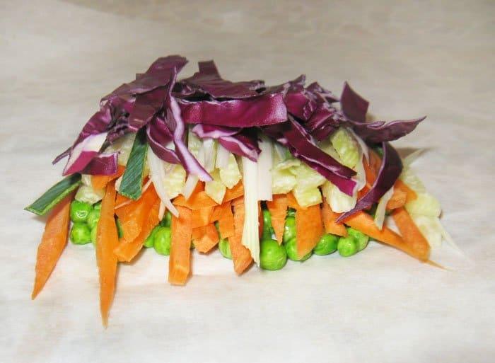 Фото рецепта - Семга, запеченная в духовке с овощами и апельсином - шаг 4