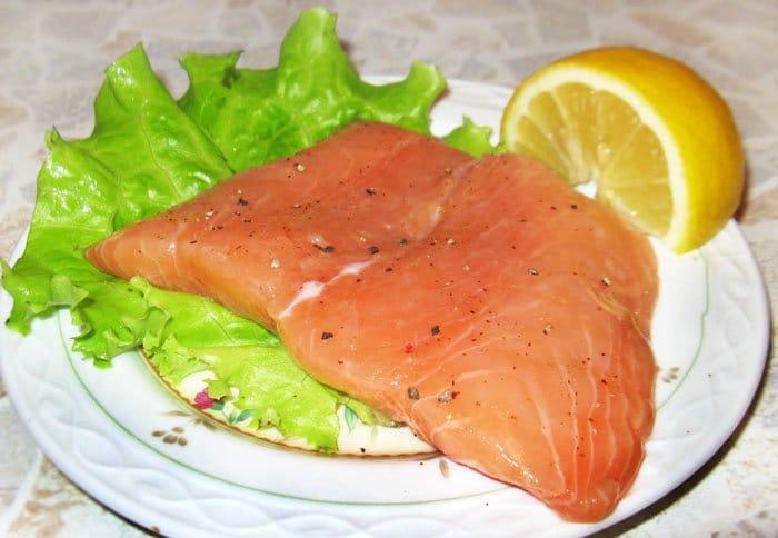 Семга слабосоленая - рецепт с фото