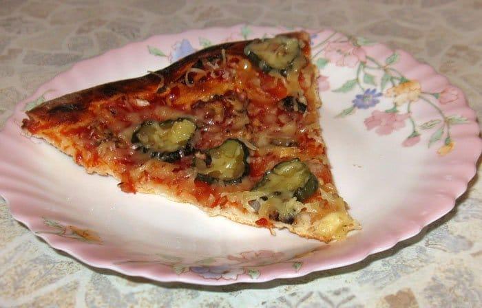 Пицца с грибами - рецепт с фото