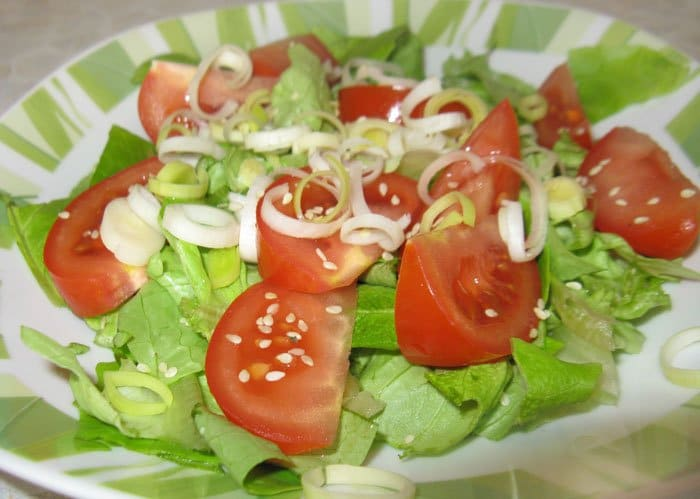 Фото рецепта - Салат со спаржей и грибами - шаг 3