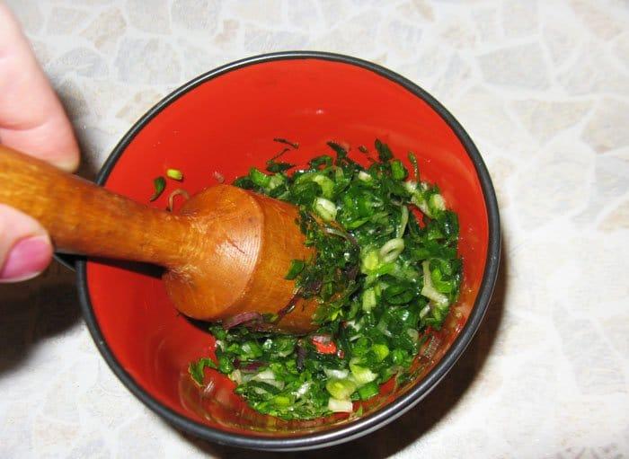Фото рецепта - Окрошка на квасе - шаг 2