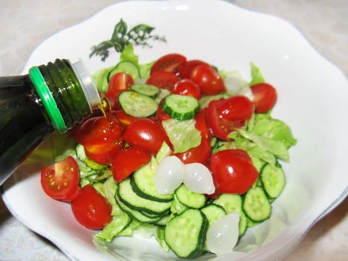 Фото рецепта - Легкий овощной салат - шаг 2