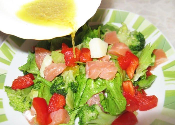 Фото рецепта - Мавританский салат с семгой - шаг 5