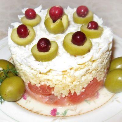 Салат-коктейль с семгой и грейпфрутом - рецепт с фото