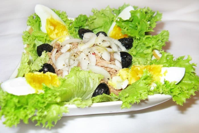 Салат Сан-Исидоро с тунцом - рецепт с фото