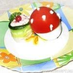 Яйца, фаршированные крабовым мясом