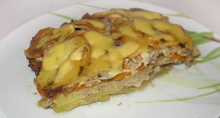 Слоеная запеканка из картофеля и кольраби - рецепт с фото