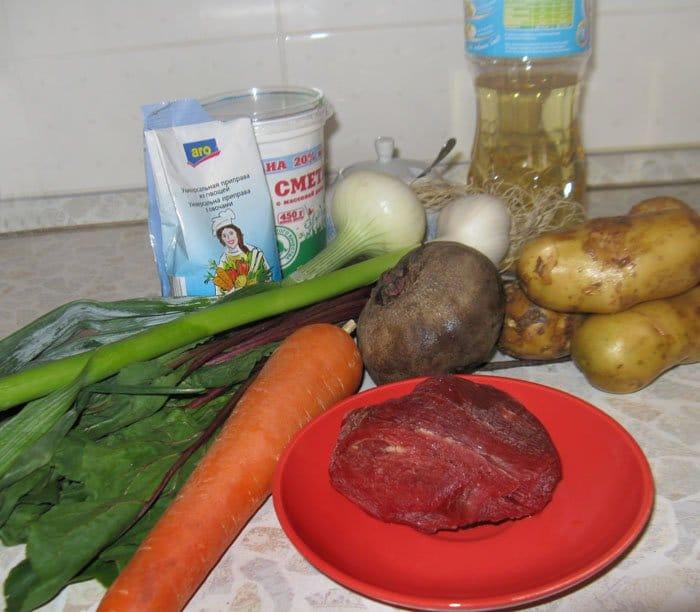 Фото рецепта - Свекольник с ботвой свеклы - шаг 1