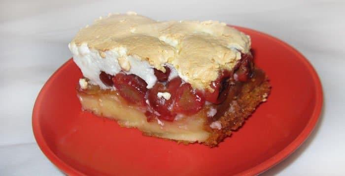 Торт с вишней - рецепт с фото