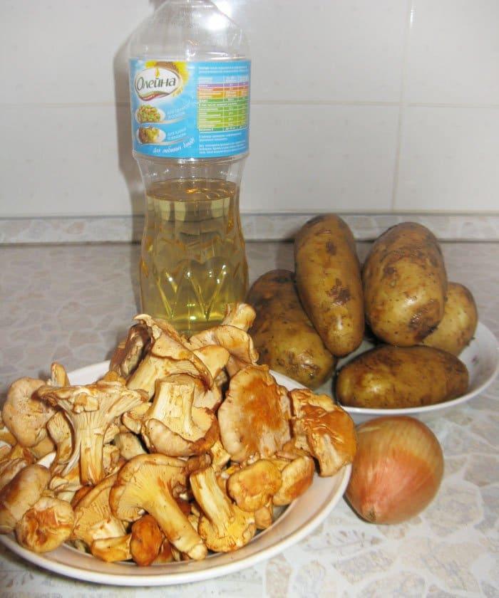 рецепт приготовления жареной картошки с грибами лисичками