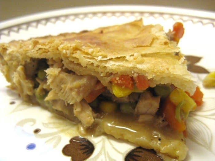 Домашний пирог с начинкой из овощей и мяса
