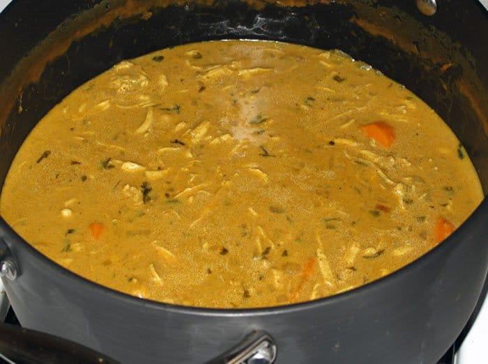 Фото рецепта - Подлива к макаронам с курицей и карри - шаг 4