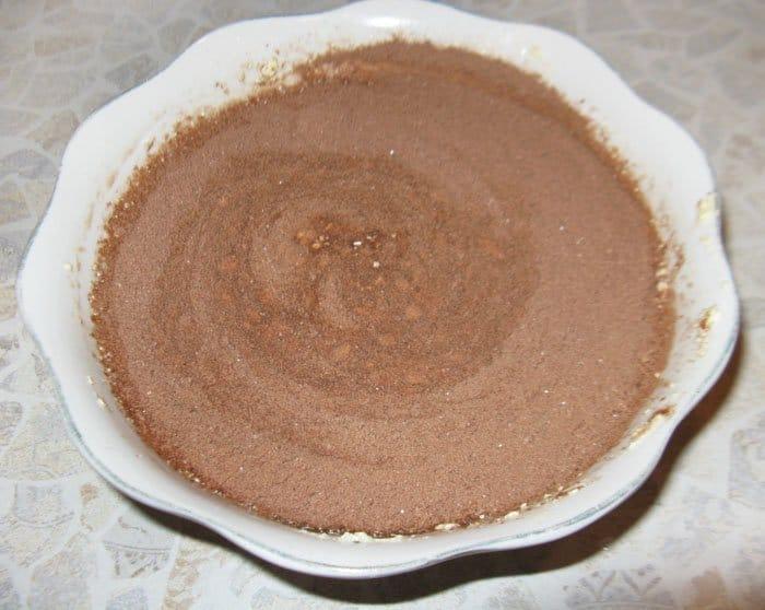 Фото рецепта - Шоколадный кекс с творожной начинкой - шаг 5