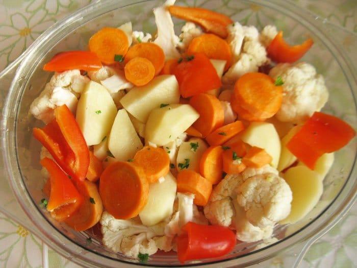 Фото рецепта - Дорада на пару с овощами - шаг 5