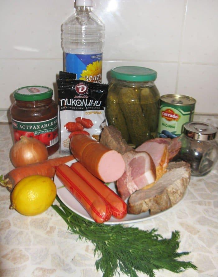 Фото рецепта - Солянка мясная - шаг 1