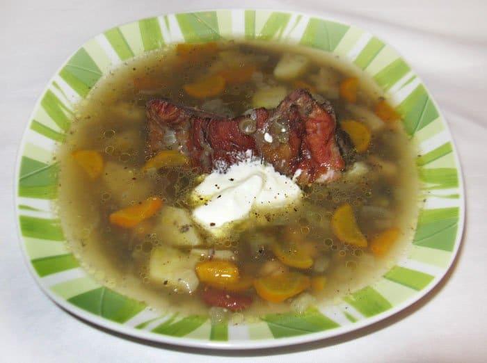 Суп из бобовых с копченостями - рецепт с фото