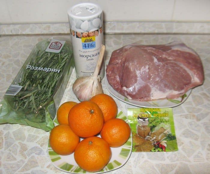 Фото рецепта - Запеченная свинина в фольге «Новогоднее настроение» - шаг 1