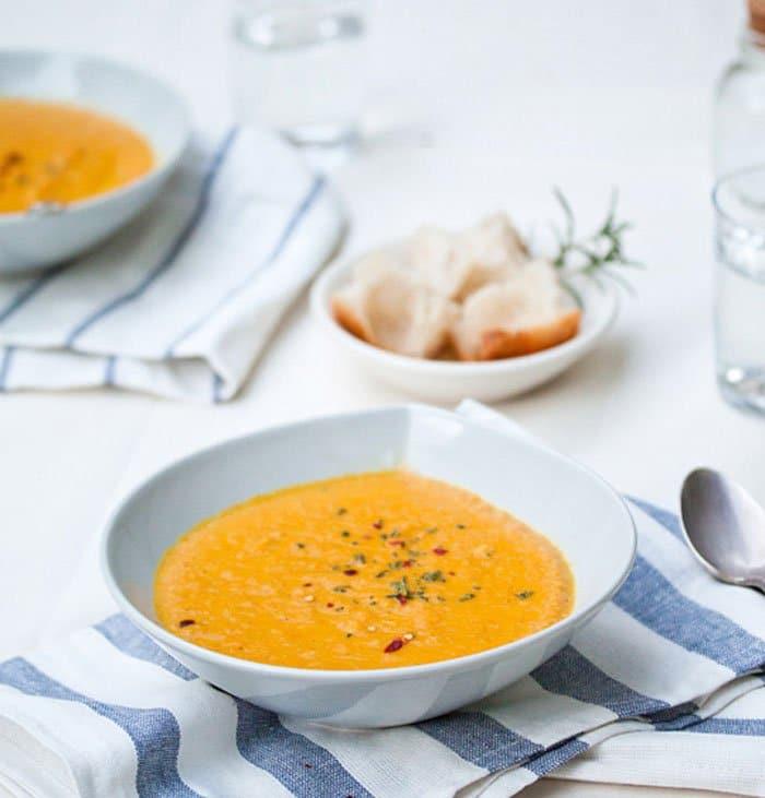 Морковный суп пюре на кокосовом молоке - рецепт с фото