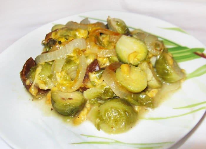 Запеченная брюссельская капуста с каштанами - рецепт с фото