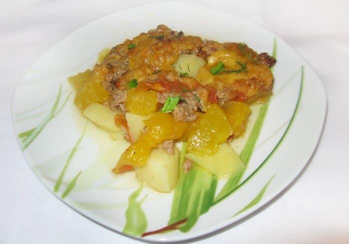 Запеканка с тыквой и фаршем «Оранжевая осень» - рецепт с фото