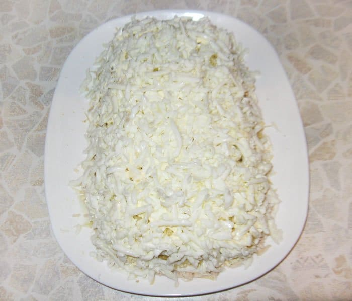 Фото рецепта - Салат «Белая Береза» из куриного филе - шаг 6