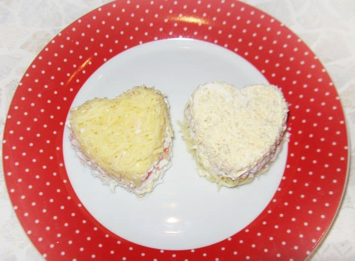 Фото рецепта - Салат-мини Сердце - шаг 3