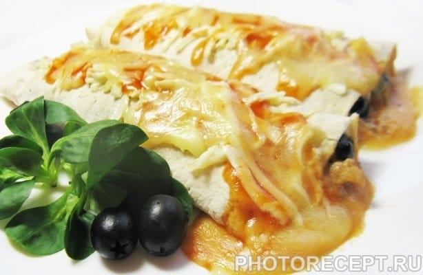 Буррито с фаршем и белой фасолью