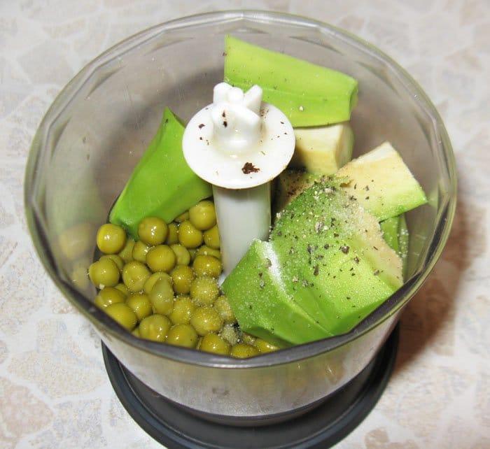 Фото рецепта - Паштет из зеленого горошка и авокадо с мятой - шаг 1