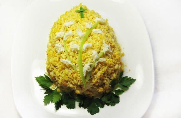 Салат «Пасхальное яйцо» - рецепт с фото