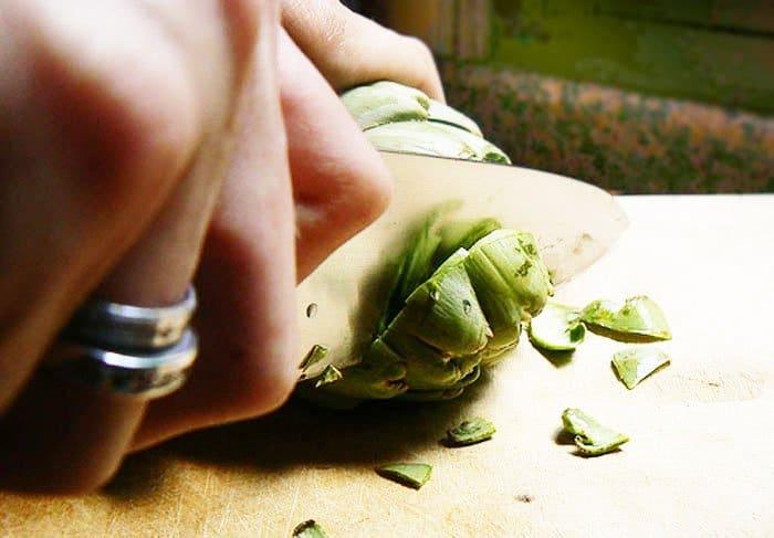 Фото рецепта - Артишоки, фаршированные грибами - шаг 2