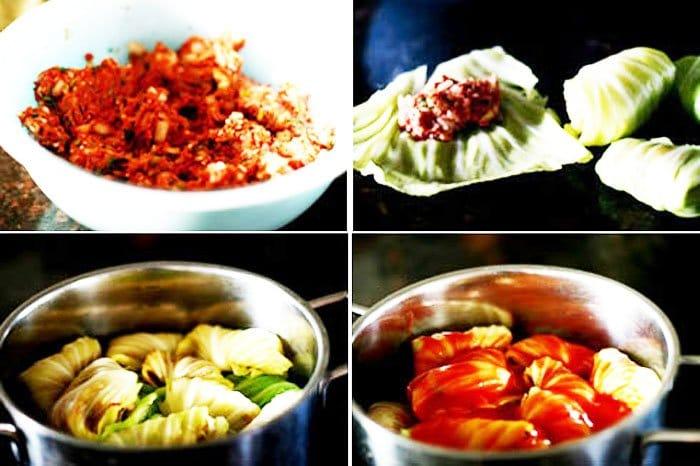 Фото рецепта - Голубцы с мясом, рисом и зеленью - шаг 2
