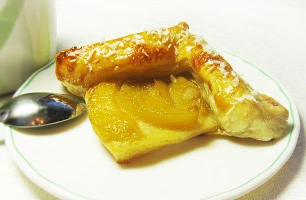 Слойка  «Каре с персиками» - рецепт с фото