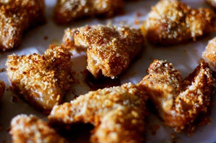 Крылышки в панировочных сухарях в духовке рецепт с пошагово