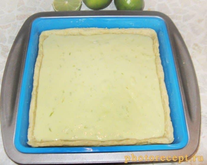 Фото рецепта - Пирог Key Lime с лаймом и сгущенкой - шаг 7