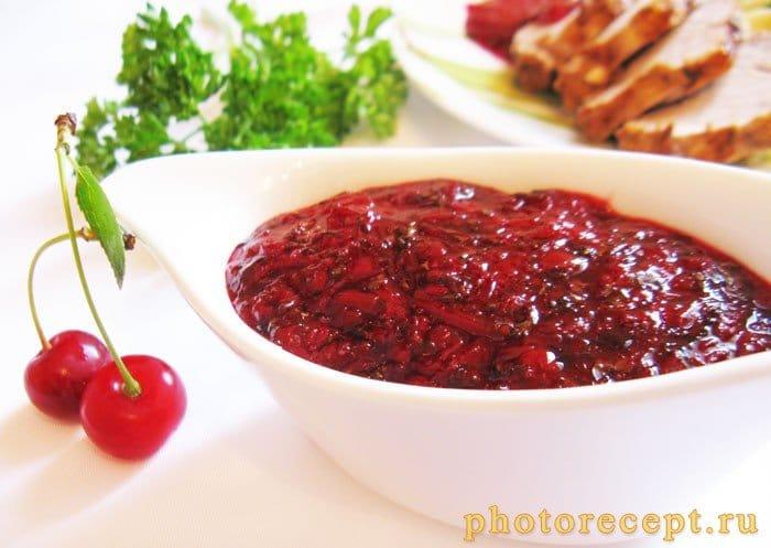 Вишневый соус к мясу - рецепт с фото