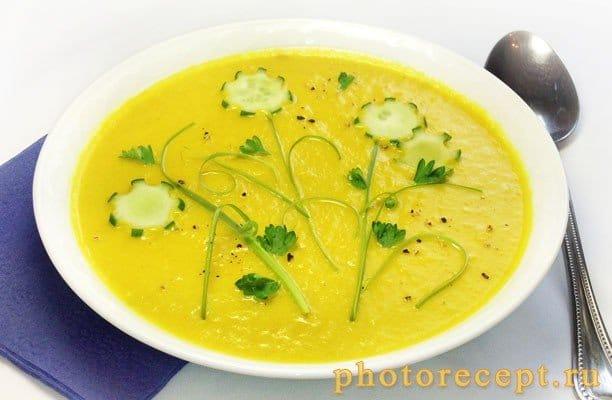Бархатистый крем-суп из кабачков - рецепт с фото