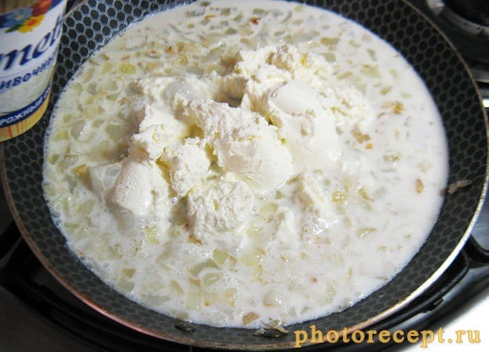 Фото рецепта - Фетучини с телятиной и грибами под творожно-сливочным соусом - шаг 5