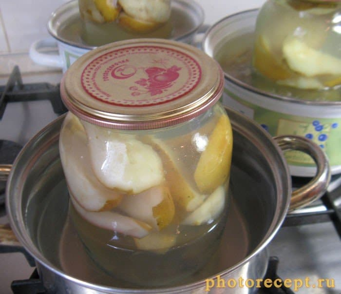 Фото рецепта - Компот на зиму из груш с медом - шаг 6