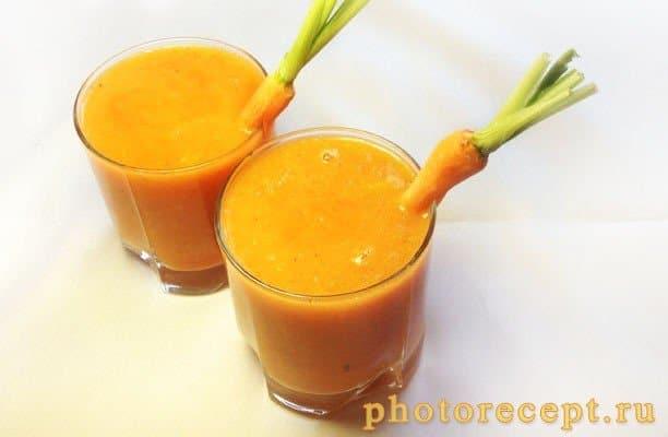 Морковно-апельсиновый смузи - рецепт с фото