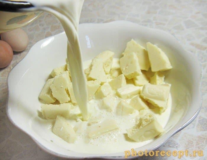 Фото рецепта - Пирог с черешней под белым шоколадом - шаг 6
