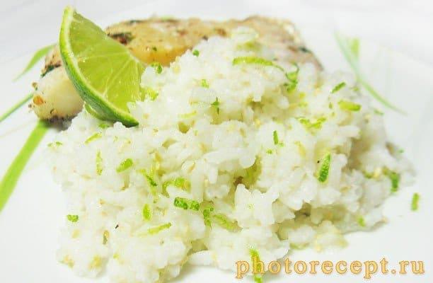 Рис с лаймом и кунжутом